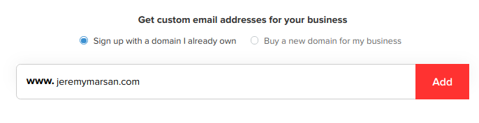 how to create a business email address for free