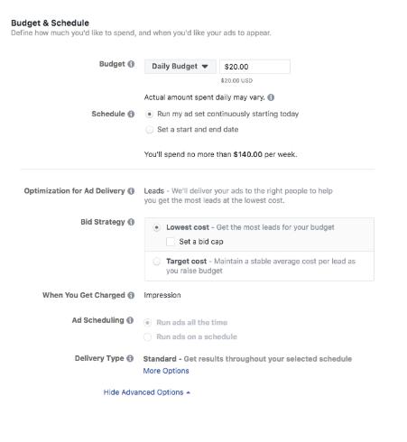 facebook ads manager