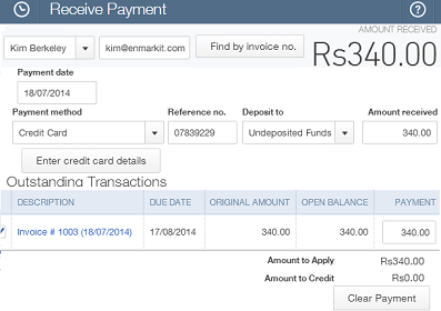 Agile CRM Receive Payment Feature