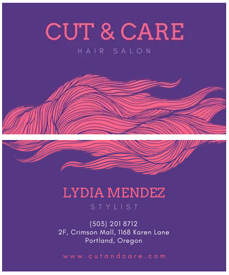hair stylist business cards whimsical example
