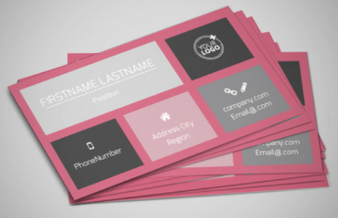 hair stylist business cards with pastel colors