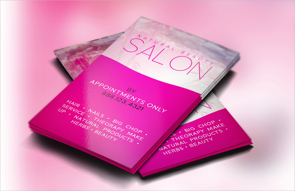 sleek and modern hair stylist business card example