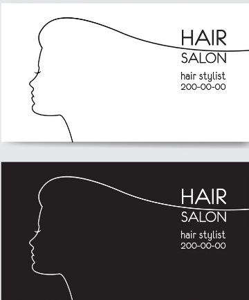 minimalist hair stylist business card example