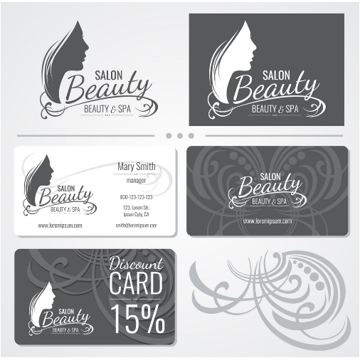 classy and whimsical hair stylist business card example