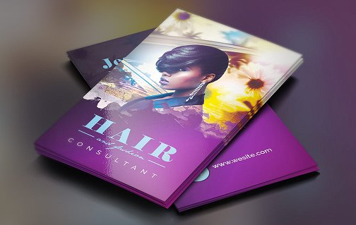highly personalized hair stylist business card example