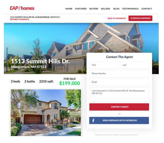 Easy Agent Pro - real estate web design