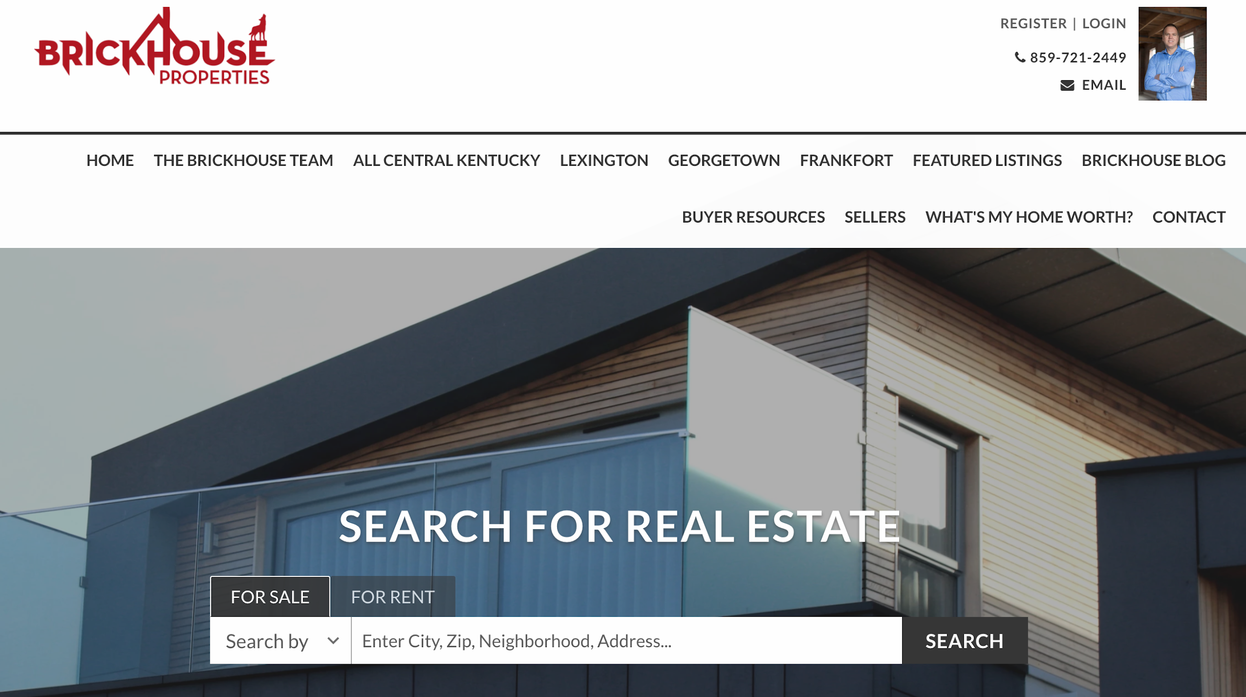 Brickhouse Properties - real estate web design