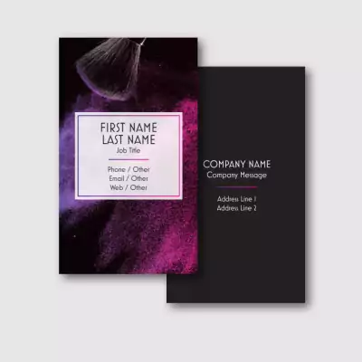 Use Frames to Highlight Your Message - makeup artist business cards