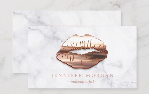Add a 3D Element to Your Design - makeup artist business cards