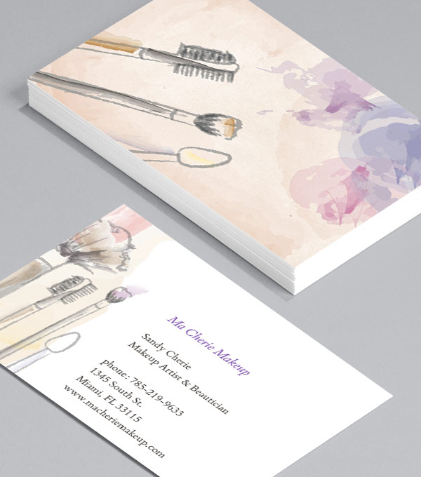 Add a Personal Feel with Sketches - makeup artist business cards