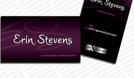 Use Your Name to Design Your Business Card - makeup artist business cards