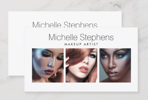 Include Images from Your Portfolio - makeup artist business cards