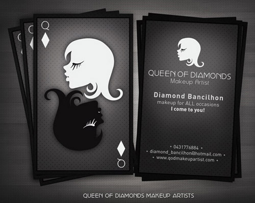 Create a Themed Look - makeup artist business cards
