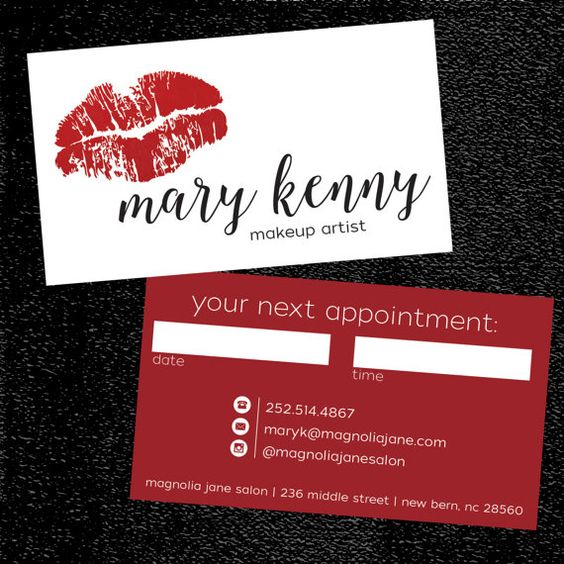 Add a Purpose - makeup artist business cards