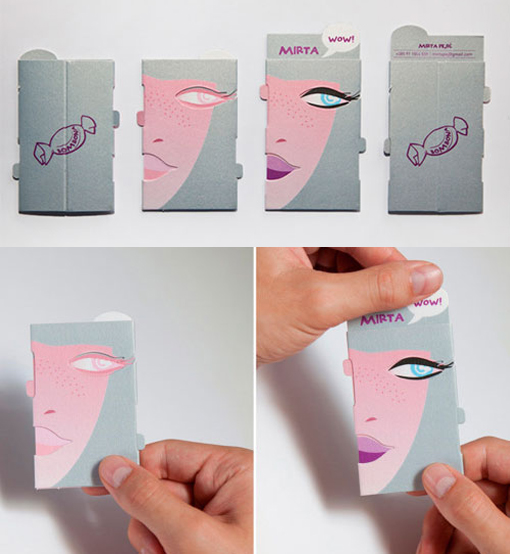 Create an Interactive Design - makeup artist business cards
