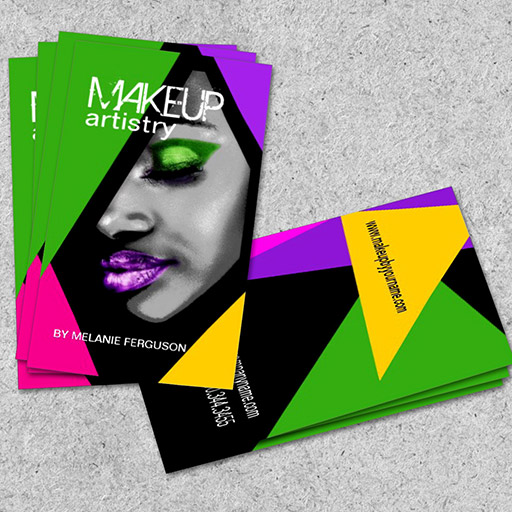 Work with Geometric Shapes - makeup artist business cards