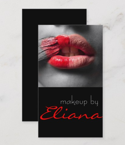 Add Some Drama to Your Design - makeup artist business cards