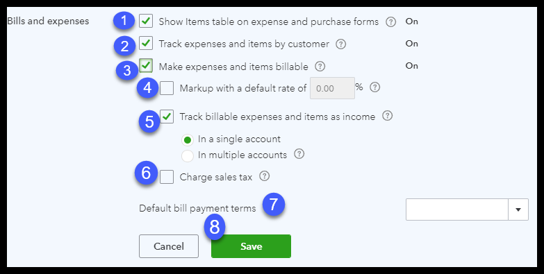 how to enter expenses in quickbooks