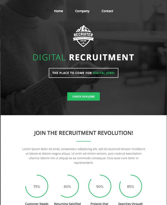 Screenshot of Recruiter Email Newsletter Template