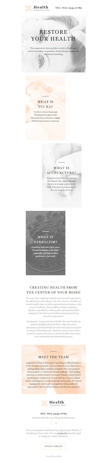 Screenshot of Medical Responsive Newsletter Template