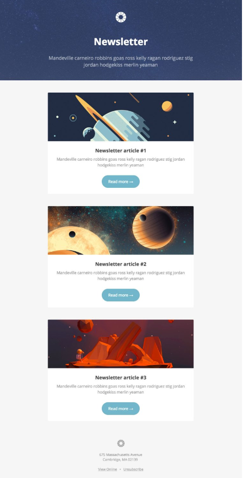 25 Best MailChimp Newsletter Templates from Around the Web