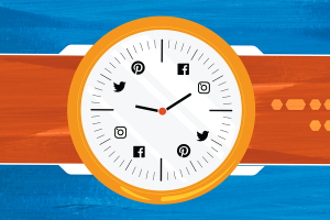 watch with social media icon designs