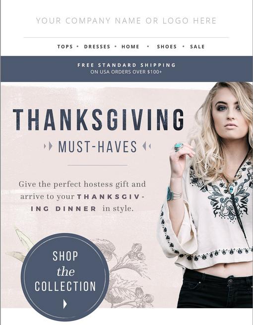 Screenshot of Gift Guide Newsletter Template