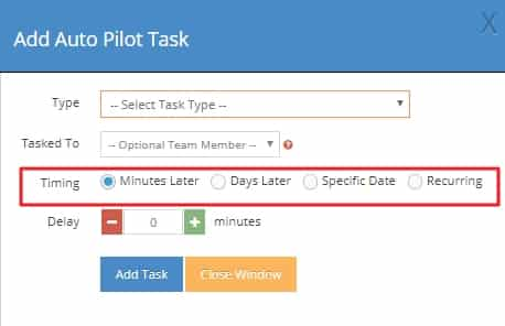 Auto Pilot Task feature in LionDesk