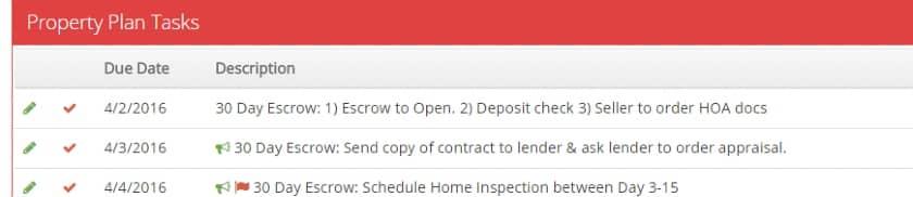 LionDesk Property Plan Tasks