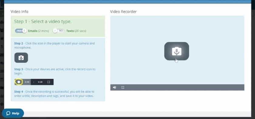 create a video text in LionDesk