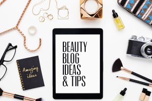 Beaity Blog Ideas and Tips written on a tablet