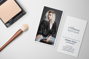 Hair Stylist Business Card Mockup