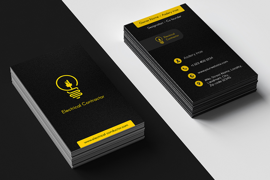 Top 25 Electrician Business Cards From Around The Web