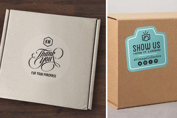 Custom boxes - custom shipping box stickers
