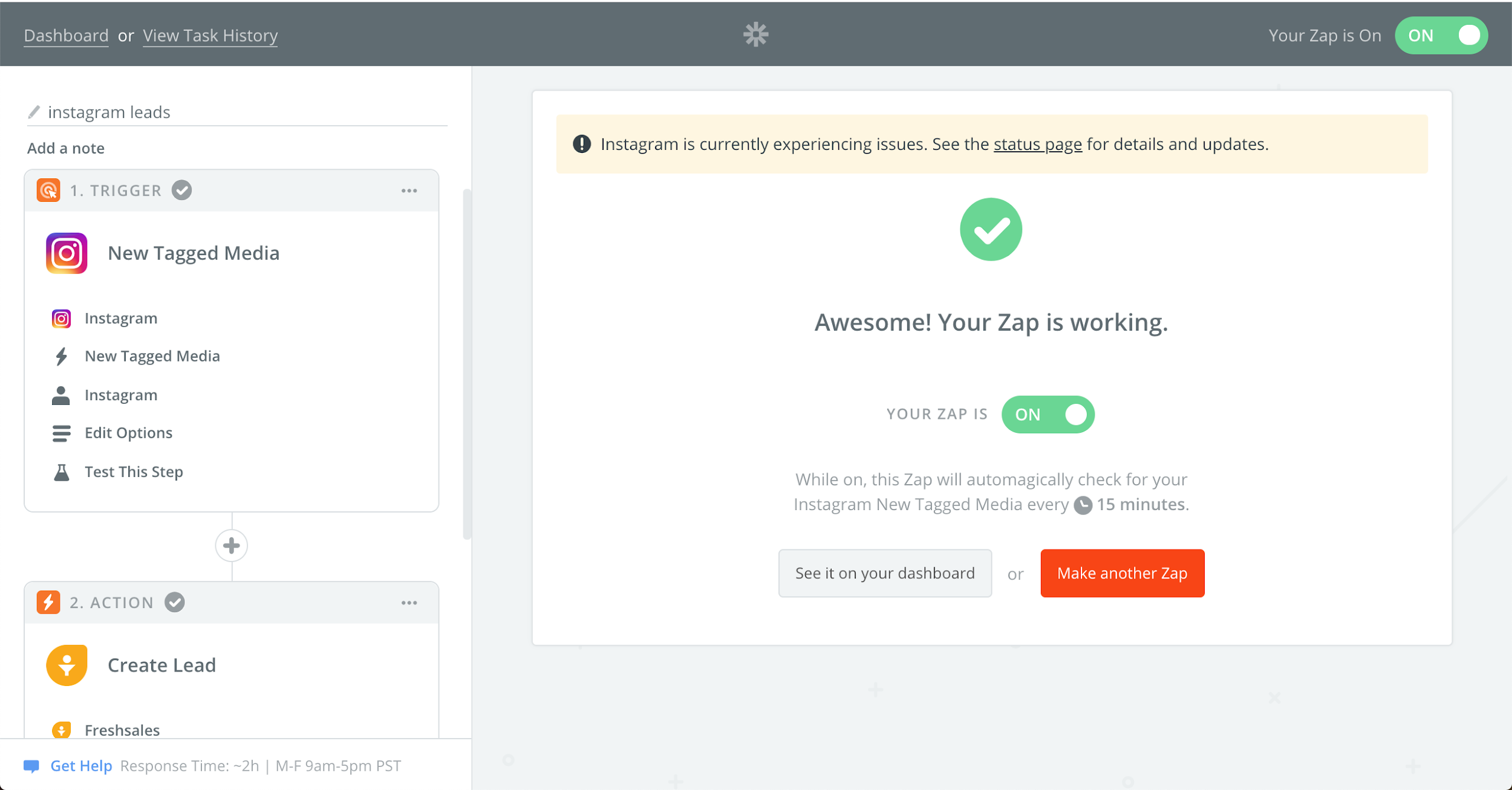 Zapier design interface - lead generation software