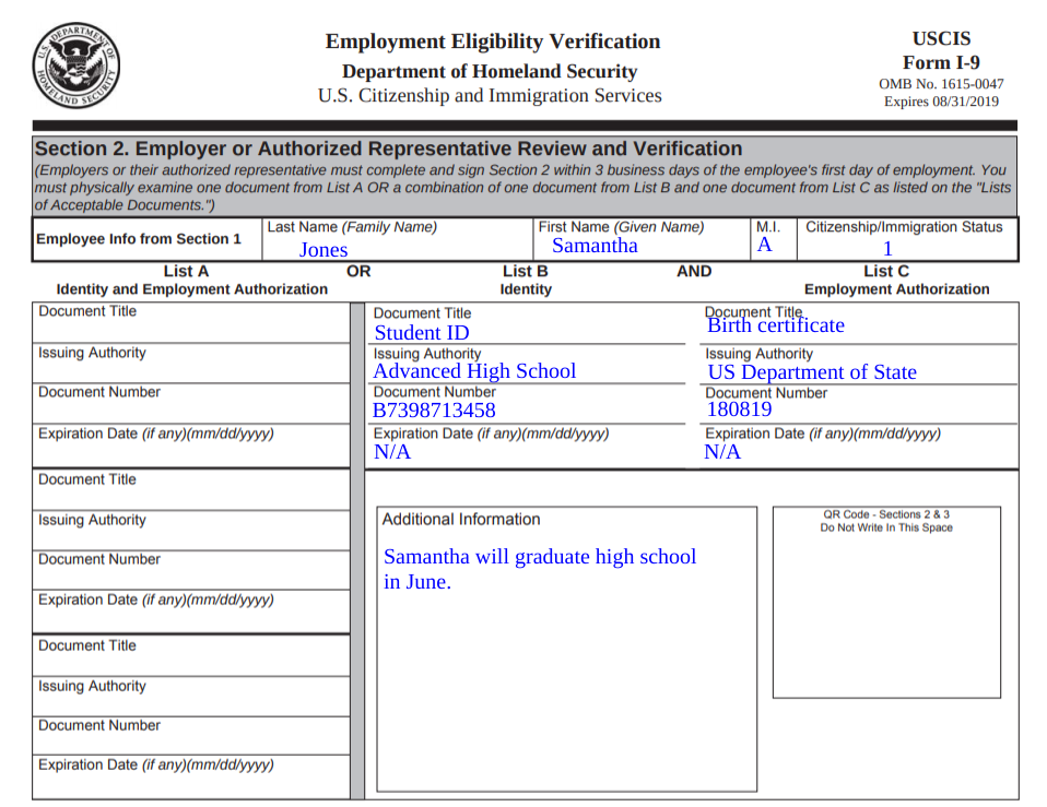 How to Fill Out the I-9 Form in 5 Steps [+Examples]