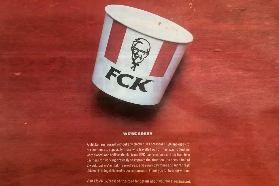 KFC's Chicken Crisis - viral marketing examples