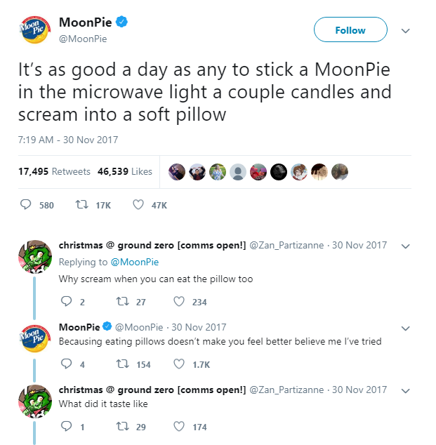 MoonPie Tweet - viral marketing examples