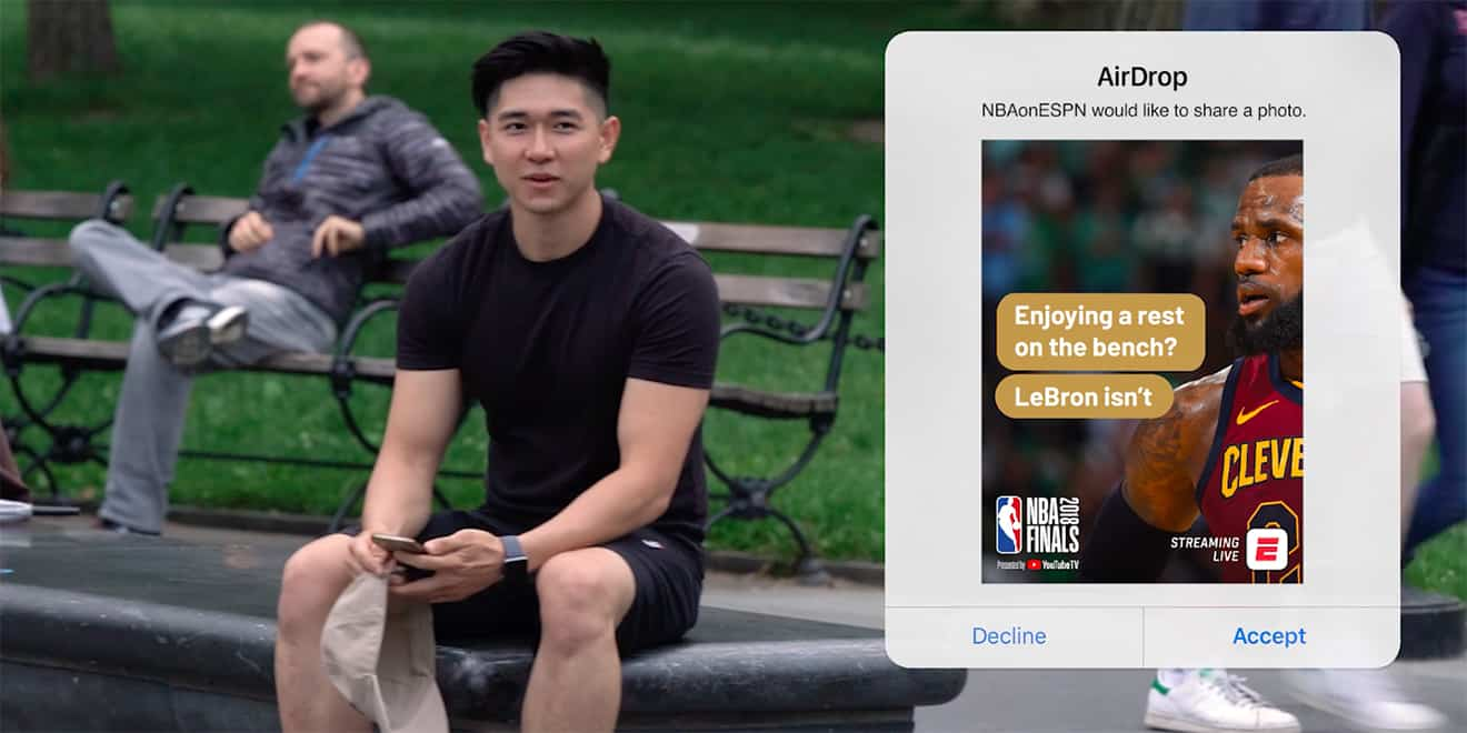 ESPN AirDrop - viral marketing examples