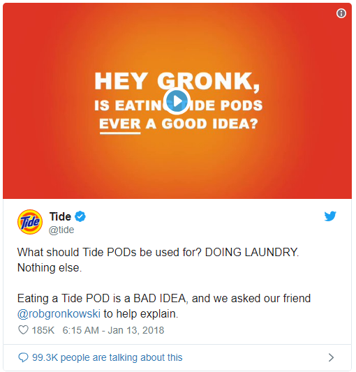 The Tide Pod Controversy - viral marketing examples