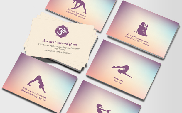 Moo - yoga business cards