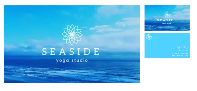 Canva - yoga business cards