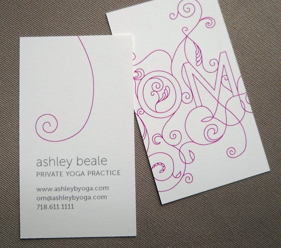 Ashley Beale Business Card - yoga business cards