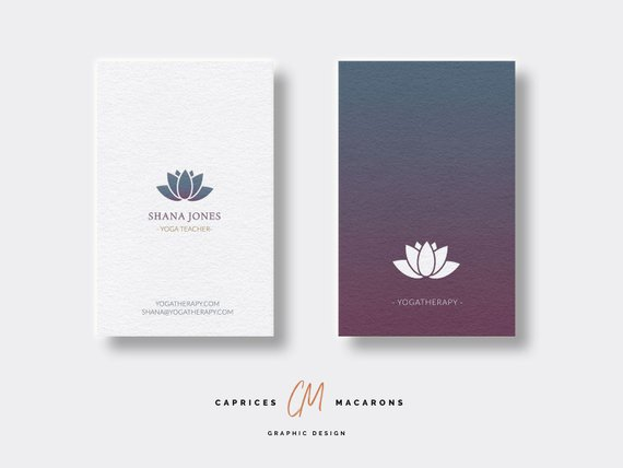 Yoga Therapy Business Card - yoga business cards