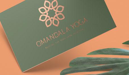 Omandala Yoga Business Card - yoga business cards