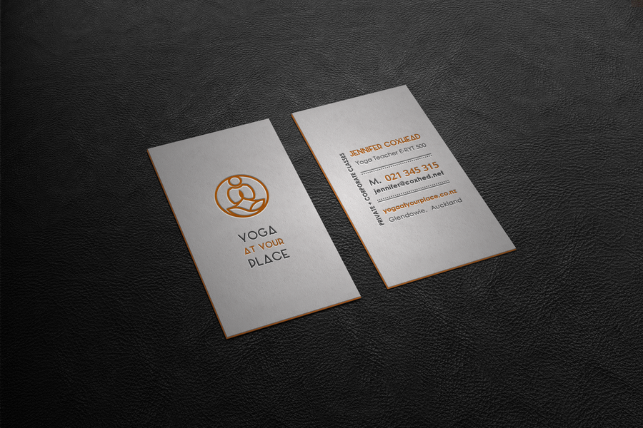 99Designs - yoga business cards