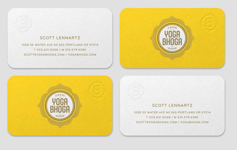 Behance - yoga business cards