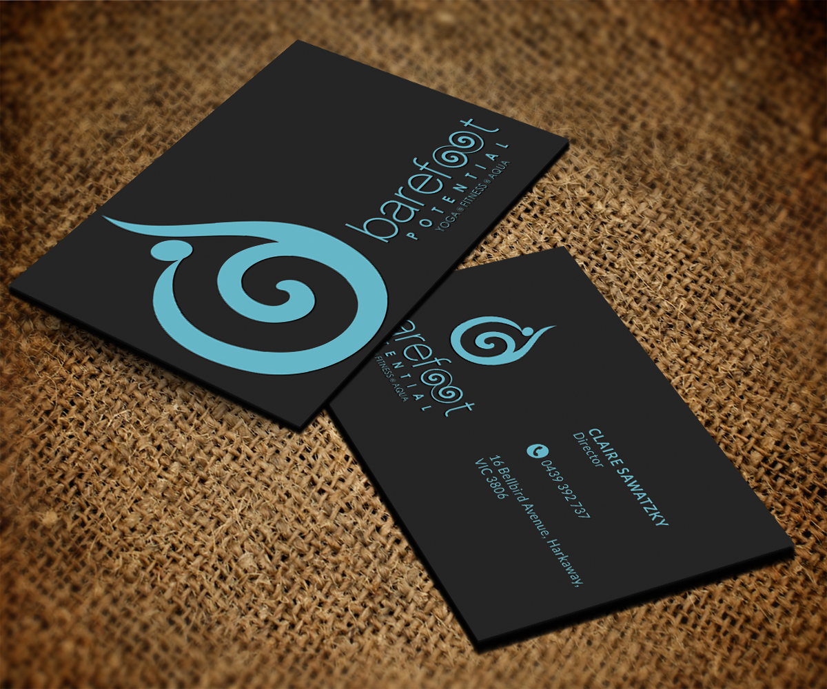 DesignCrowd - yoga business cards