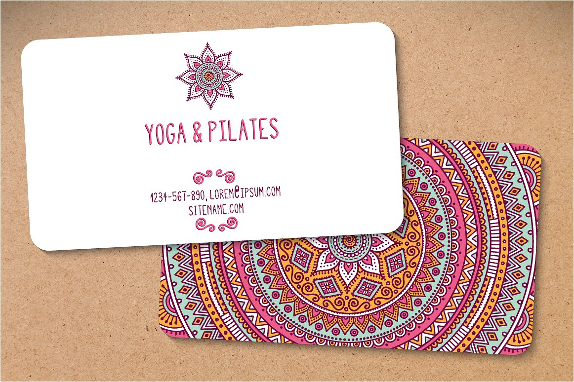 Creative Market - yoga business cards