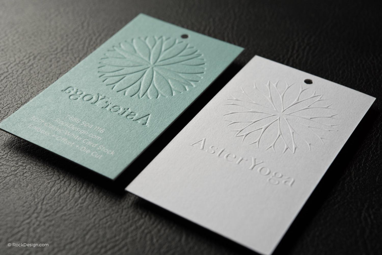 Rock Design - yoga business cards